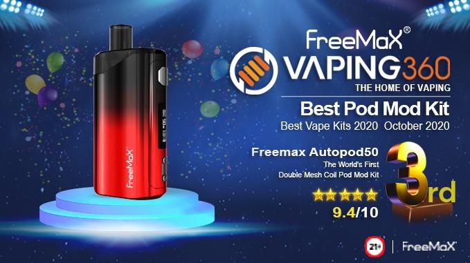 FreeMax Autopod50 | Best Vape Tanks 2020 October 2020 | 3rd