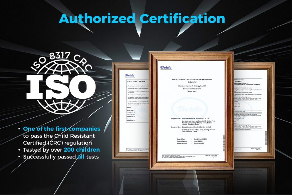 Fireluke 22   Authorizd Certification ISO