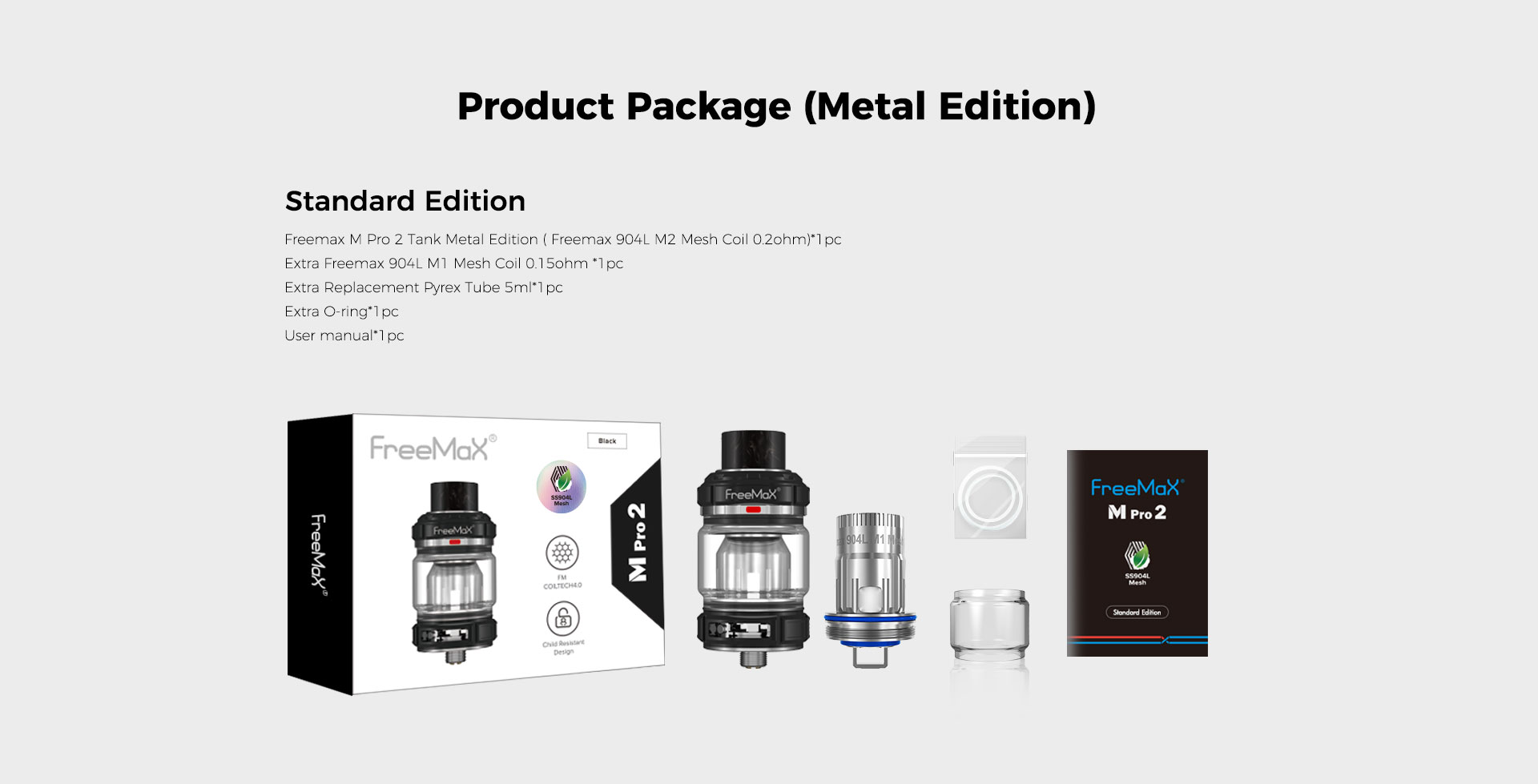 M Pro 2 Tank - Product Package(Metal Edition) Standard Edition