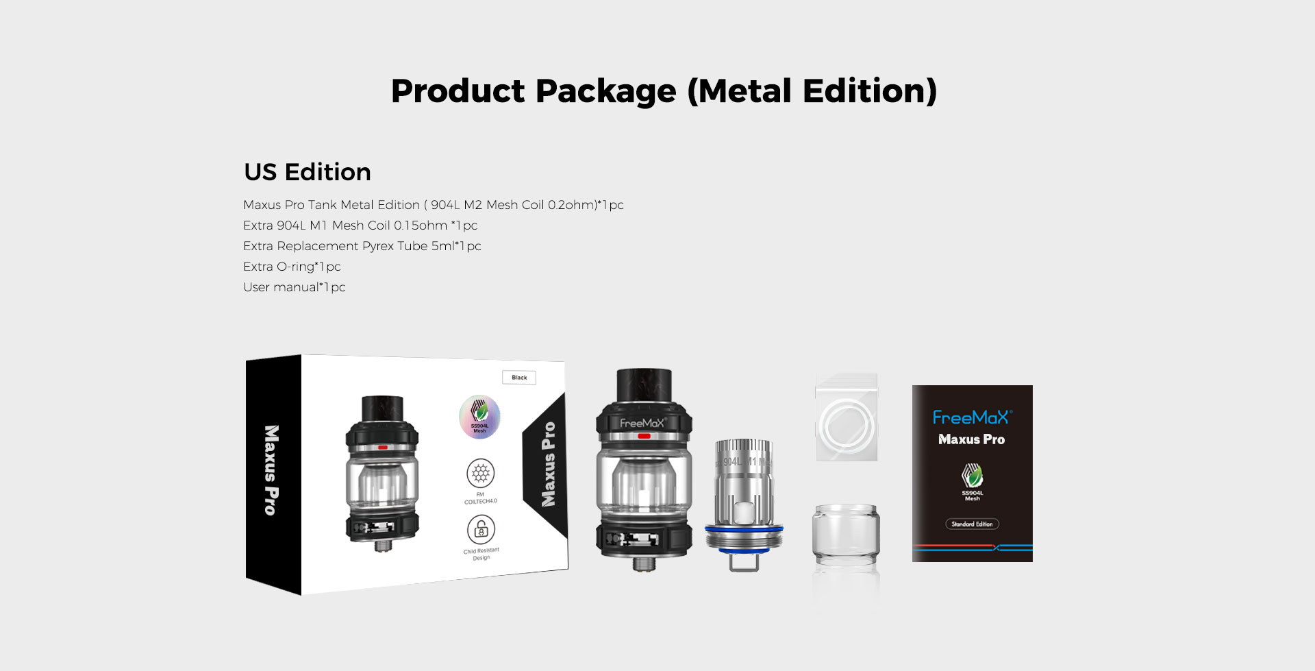 M Pro 2 Tank - Product Package(Metal Edition) US Edition