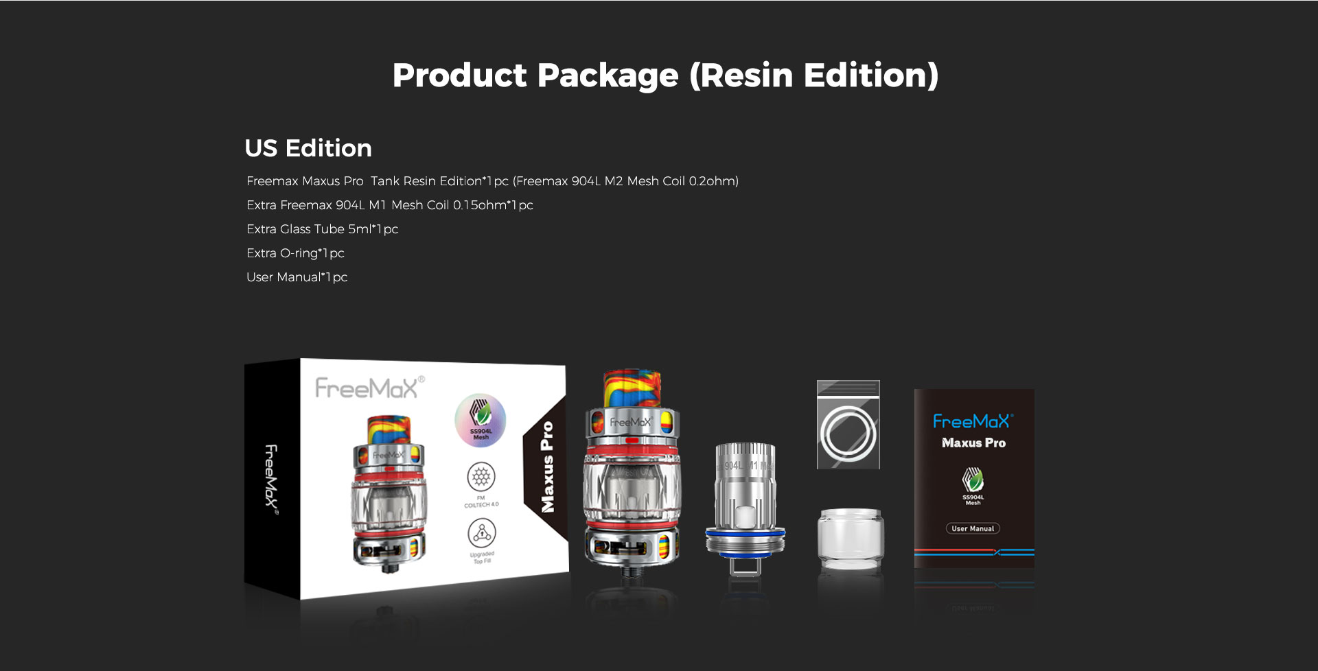 M Pro 2 Tank - Product Package(Resin Edition) US Edition