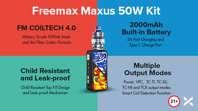 Freemax Maxus 50W Kit - Value
