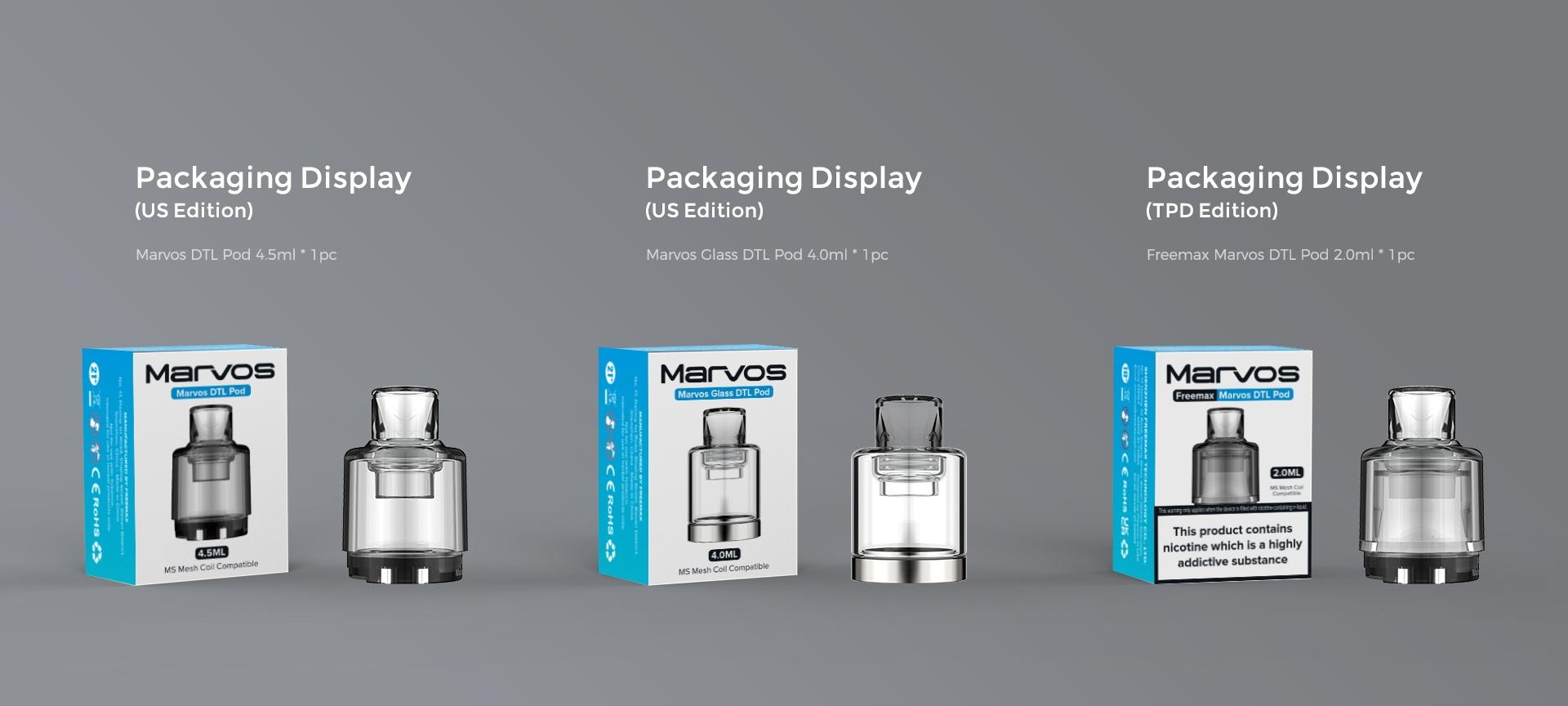 Marvos DTL Pod - Packaging Display
