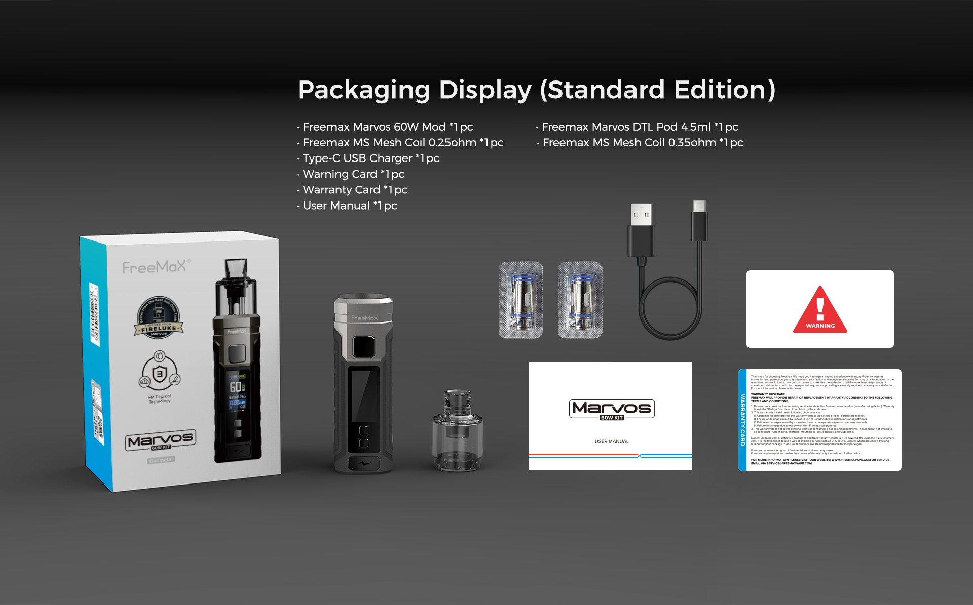 Marvos 60W Kit -packaging-display-standard-edition