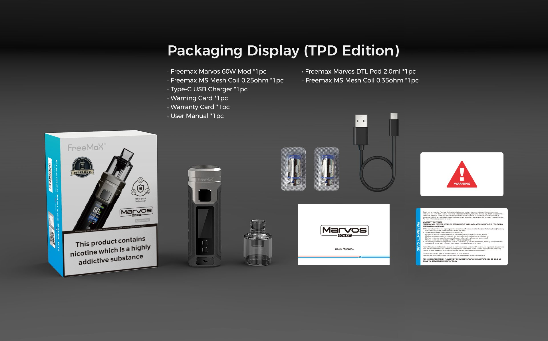 Marvos 60W Kit -packaging-display-tpd-edition