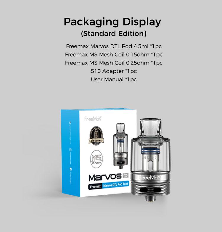 Marvos DTL Pod Tank - Packaging Display(Standard Edition)