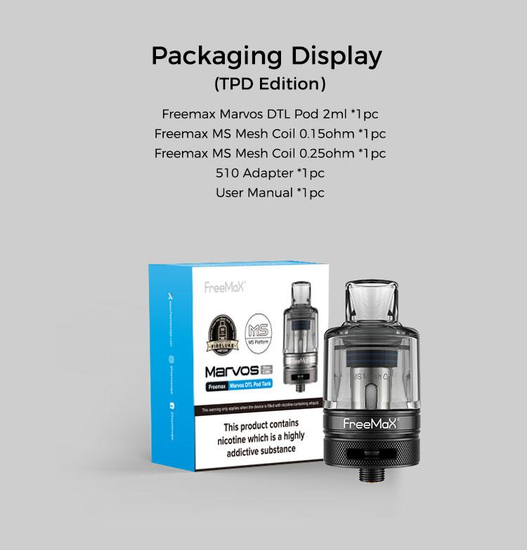 Marvos DTL Pod Tank - Packaging Display(TPD Edition)