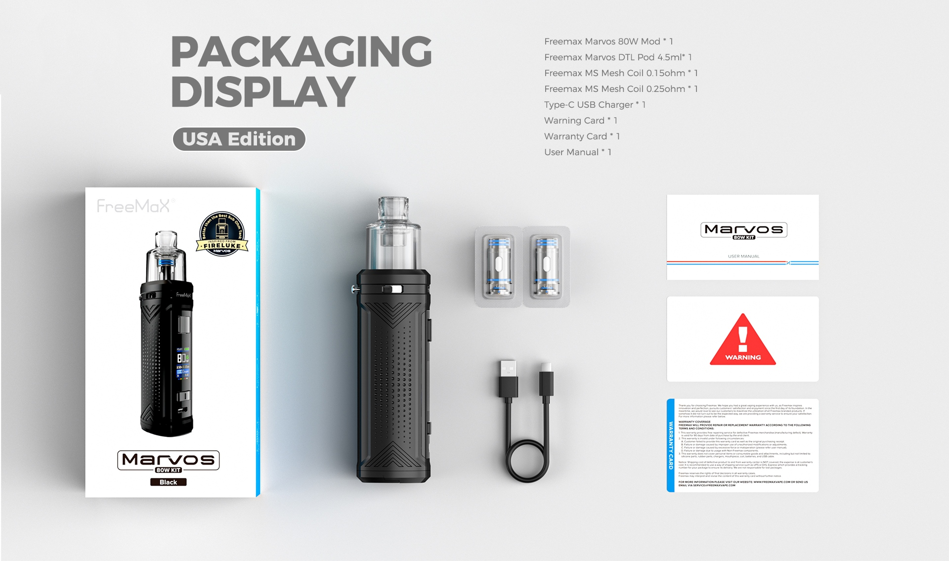 Marvos 80W - Packaging Display(US Edition)